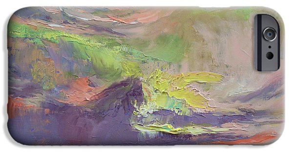 Michael Paintings iPhone Cases - Summer Evening iPhone Case by Michael Creese