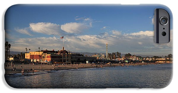 Amusements iPhone Cases - Summer Evenings in Santa Cruz iPhone Case by Laurie Search