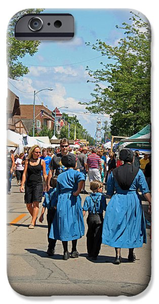 Indiana Scenes iPhone Cases - Summer Festival in Berne Indiana iPhone Case by Suzanne Gaff