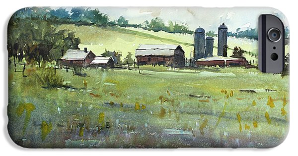 Silos iPhone Cases - Summer Fields iPhone Case by Ryan Radke