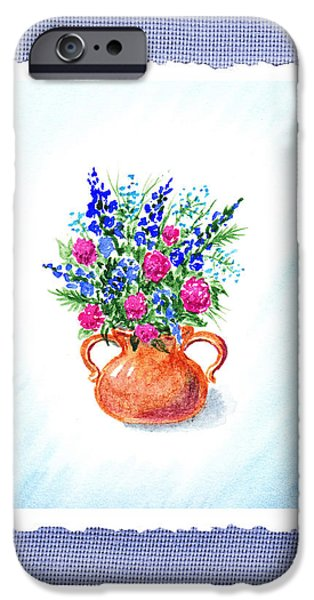 Summer iPhone Cases - Summer Flowers Bouquet Botanical Impressionism iPhone Case by Irina Sztukowski