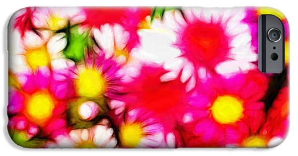 Colorful Abstract Pastels iPhone Cases - Summer Garden iPhone Case by Stefan Kuhn