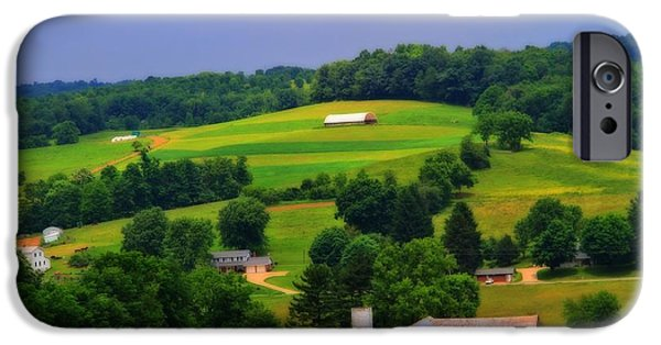 Amish Family iPhone Cases - Summer Green In Berlin Ohio iPhone Case by Dan Sproul