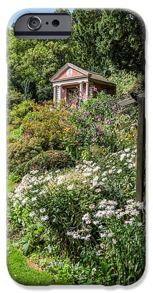 Garden Digital Art iPhone Cases - Summer House iPhone Case by Adrian Evans