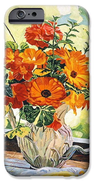Pitcher iPhone Cases - Summer House Still Life iPhone Case by David Lloyd Glover