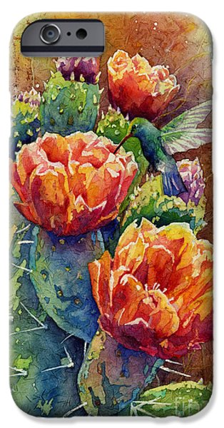 Cactus iPhone Cases - Summer Hummer iPhone Case by Hailey E Herrera