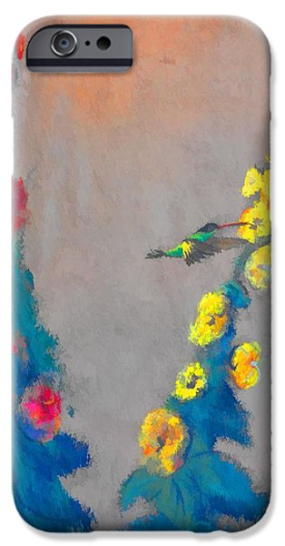 Baby Bird Digital iPhone Cases - Summer Hummer iPhone Case by Jan Amiss Photography