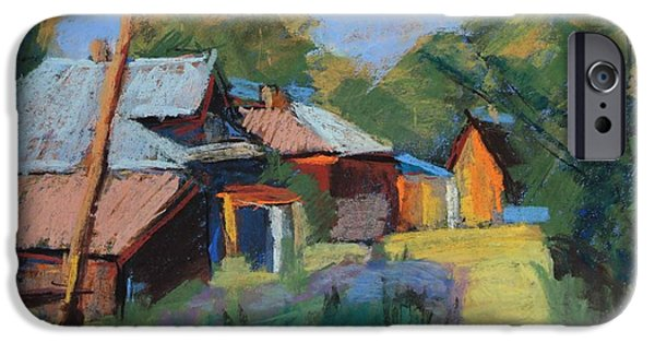 Village Pastels iPhone Cases - Summer in a village iPhone Case by Alena Kogan