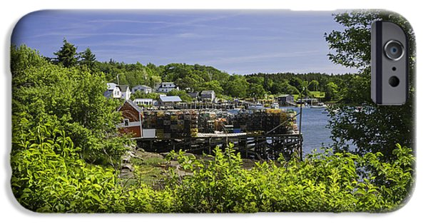 Maine Seascapes iPhone Cases - Summer in South Bristol on the coast of Maine iPhone Case by Keith Webber Jr