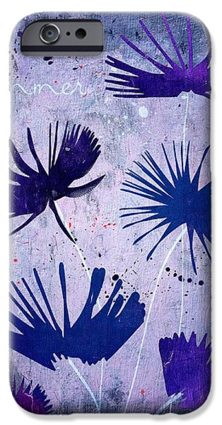 Texture Floral iPhone Cases - Summer Joy - 25c2 iPhone Case by Variance Collections