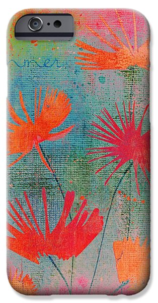 Texture Floral iPhone Cases - Summer Joy - 44bb iPhone Case by Variance Collections