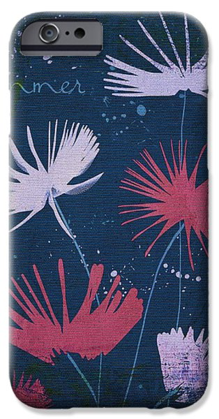 Texture Floral iPhone Cases - Summer Joy - 47a01 iPhone Case by Variance Collections