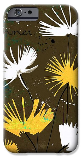 Texture Floral iPhone Cases - Summer Joy - bdc01b iPhone Case by Variance Collections