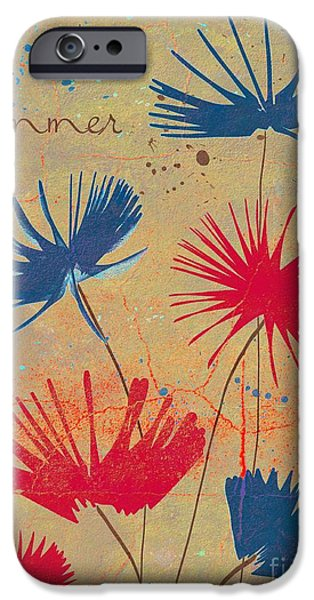 Texture Floral iPhone Cases - Summer Joy - jy04bb iPhone Case by Variance Collections
