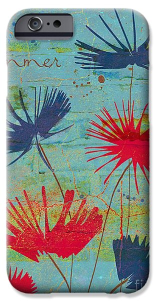 Texture Floral iPhone Cases - Summer Joy - jy44v2b iPhone Case by Variance Collections