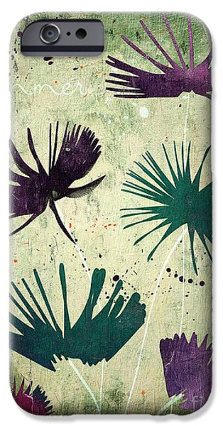 Flower Design iPhone Cases - Summer Joy - s18cc iPhone Case by Variance Collections