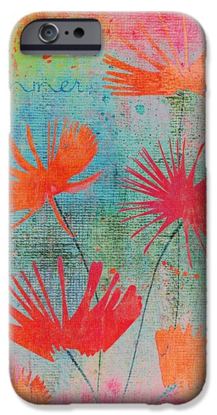 Texture Floral iPhone Cases - Summer Joy - s44a iPhone Case by Variance Collections