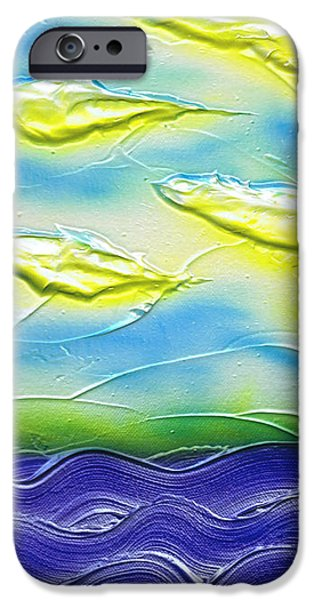 Blue Abstracts Reliefs iPhone Cases - Summer. iPhone Case by Kenneth Clarke