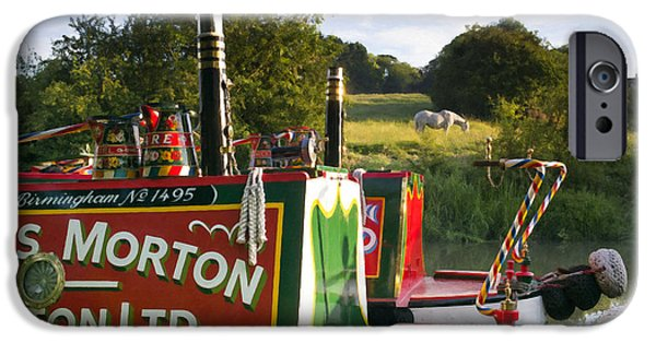 Union Digital Art iPhone Cases - Summer Light on the Grand Union Canal iPhone Case by Tim Gainey