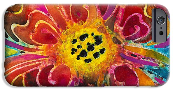 Abstracts iPhone Cases - Colorful Flower Art - Summer Love by Sharon Cummings iPhone Case by Sharon Cummings