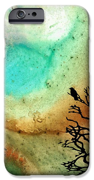 Summer Moon - Landscape Art By Sharon Cummings iPhone Case by Sharon Cummings
