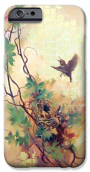 Morning Paintings iPhone Cases - Summer Morning iPhone Case by K H Catlett