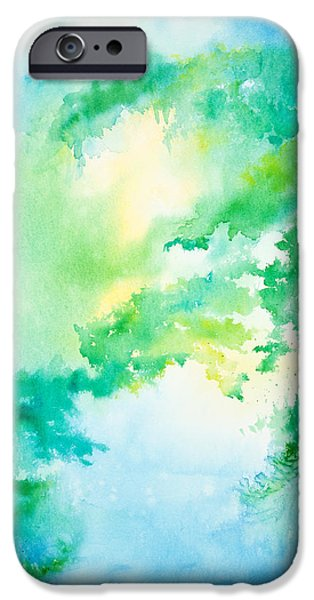 Michelle iPhone Cases - Summer Morning on the Lake iPhone Case by Michelle Wiarda