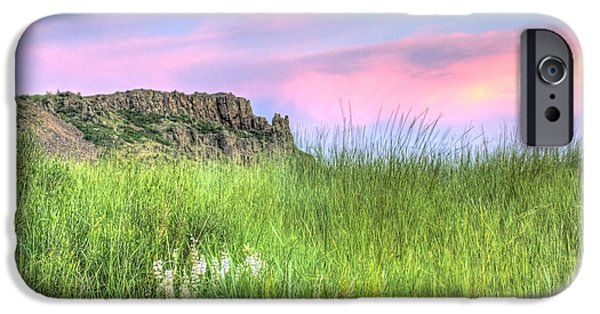 Cliff iPhone Cases - Summer Night in the Foothills iPhone Case by Juli Scalzi