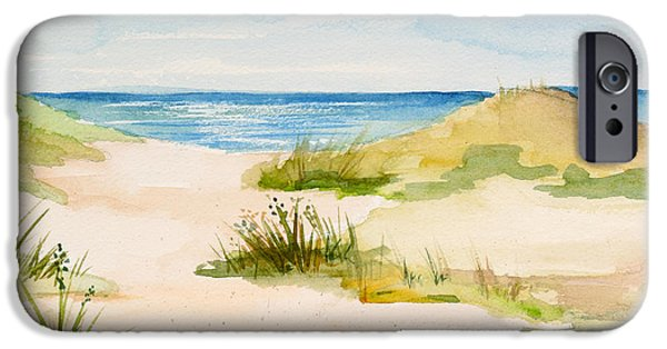 Cape Cod Paintings iPhone Cases - Summer on Cape Cod iPhone Case by Michelle Wiarda
