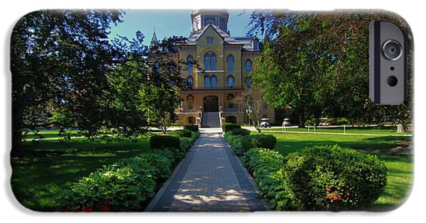 Indiana Flowers iPhone Cases - Summer On Notre Dame Campus iPhone Case by Dan Sproul