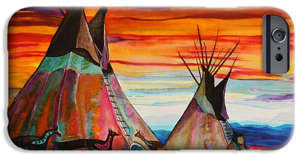 Prairie iPhone Cases - Summer on the Plains iPhone Case by Anderson R Moore