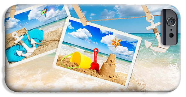 Sandcastle iPhone Cases - Summer Postcards iPhone Case by Amanda And Christopher Elwell