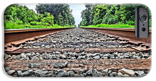 Great Mysteries iPhone Cases - Summer Railroad Tracks iPhone Case by Dan Sproul