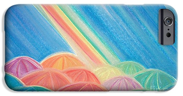 For Children Pastels iPhone Cases - Summer Rain by jrr iPhone Case by First Star Art