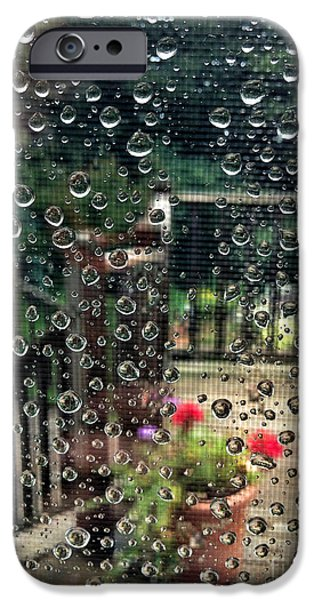 Summer iPhone Cases - Summer Rain iPhone Case by HD Connelly