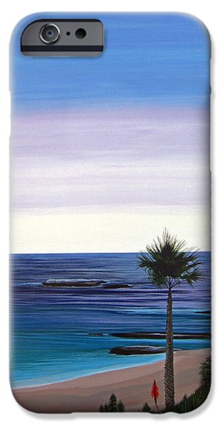 Malibu Paintings iPhone Cases - Summer Samba iPhone Case by Hunter Jay