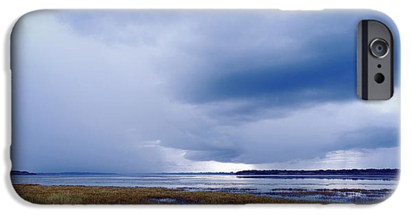 Summer Storm iPhone Cases - Summer Storm Over the Lake iPhone Case by Skip Nall