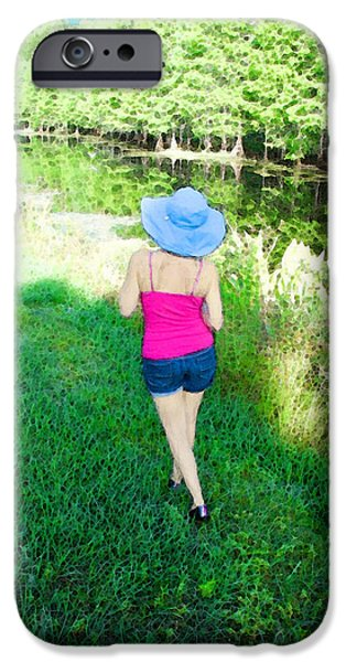 Summer Stroll In The Park - Art by Sharon Cummings iPhone Case by Sharon Cummings