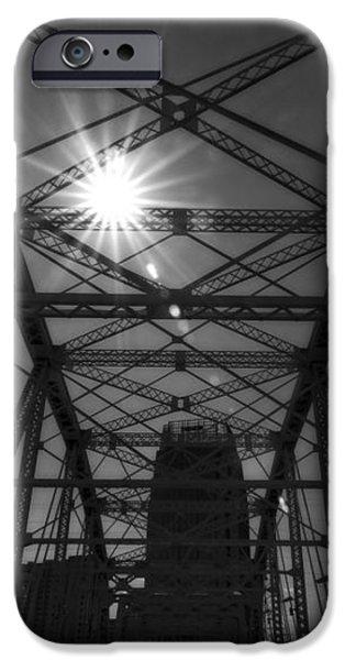 Summer Sun On Shelby Street Bridge iPhone Case by Dan Sproul