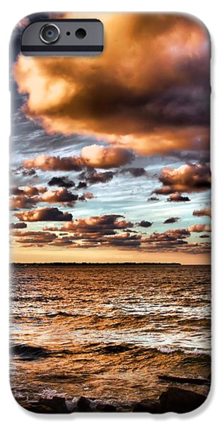 Comfortable Art iPhone Cases - Summer Sunset On The Lake iPhone Case by Dan Sproul
