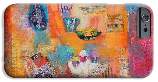 Object Paintings iPhone Cases - Summer Table iPhone Case by Sylvia Paul