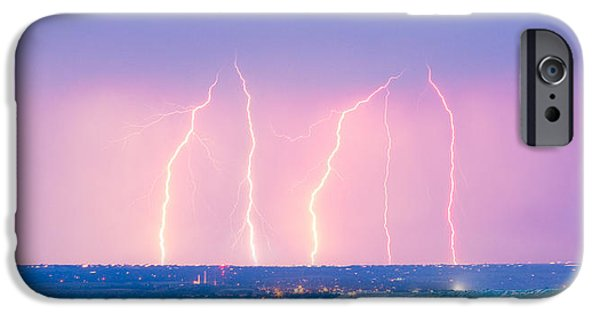 The Lightning Man iPhone Cases - Summer Thunderstorm Lightning Strikes Panorama iPhone Case by James BO  Insogna