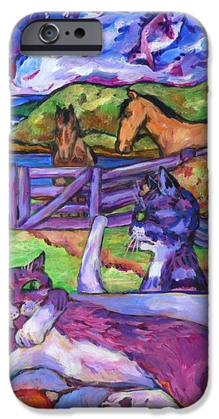 Summer Time and The Living Is Easy iPhone Case by Dianne  Connolly