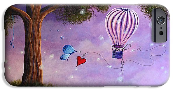 Recently Sold -  - Hot Air Balloon iPhone Cases - Summer Twilight iPhone Case by Shawna Erback