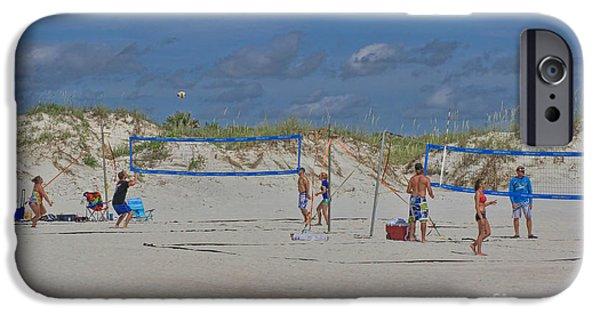Volley iPhone Cases - Summer Volley Ball iPhone Case by Deborah Benoit