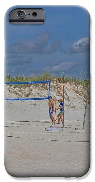 Summer Volley Ball iPhone Case by Deborah Benoit