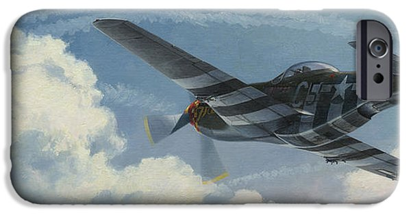 P-51 iPhone Cases - Summer of 44 iPhone Case by Wade Meyers