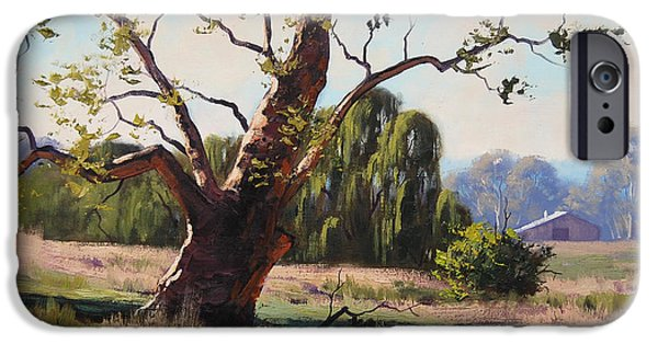 Rural iPhone Cases - Summer Willow iPhone Case by Graham Gercken