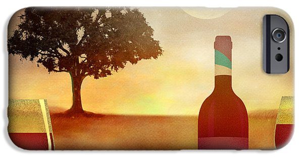 Table Wine Mixed Media iPhone Cases - Summer Wine iPhone Case by Bedros Awak