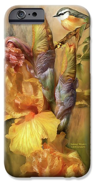 Flora Mixed Media iPhone Cases - Summer Wonders iPhone Case by Carol Cavalaris